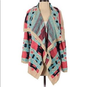 Tribal Cardigan Kate Collection Sweater Medium